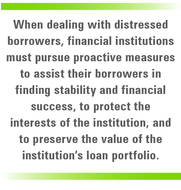 when dealing with distressed borrowers quote